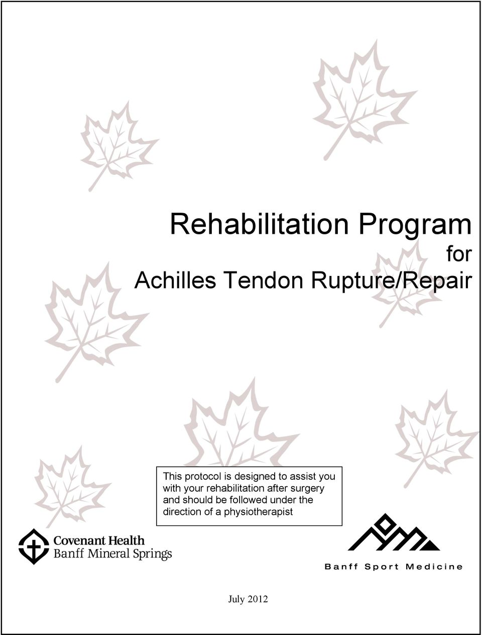 you with your rehabilitation after surgery and
