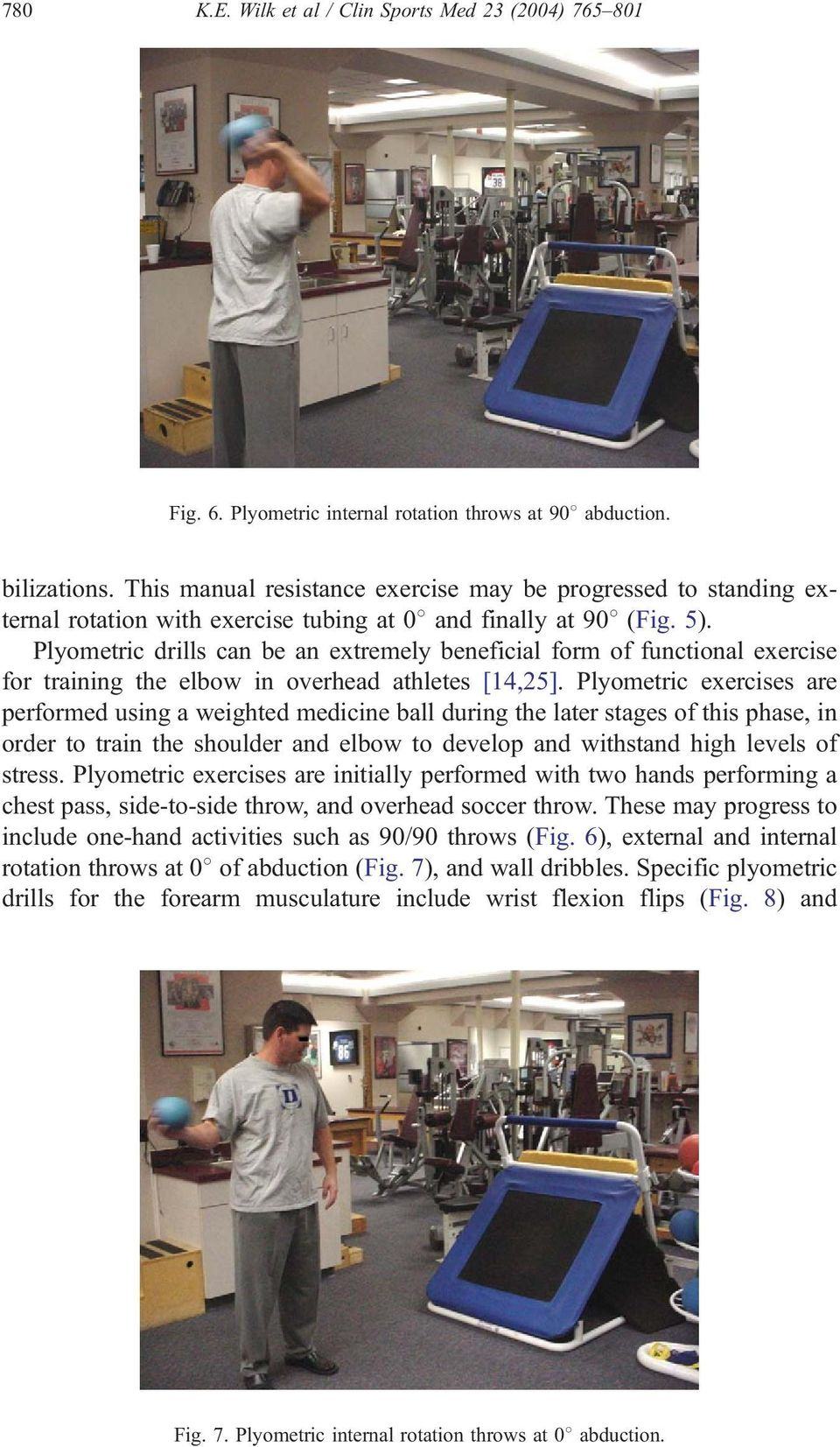 Plyometric drills can be an extremely beneficial form of functional exercise for training the elbow in overhead athletes [14,25].