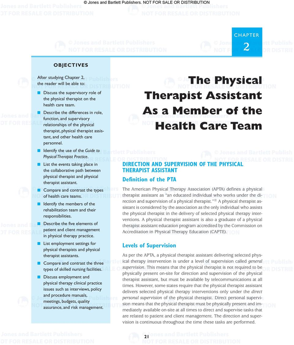 Identify the use of the Guide to Physical Therapist Practice. List the events taking place in the collaborative path between physical therapist and physical therapist assistant.