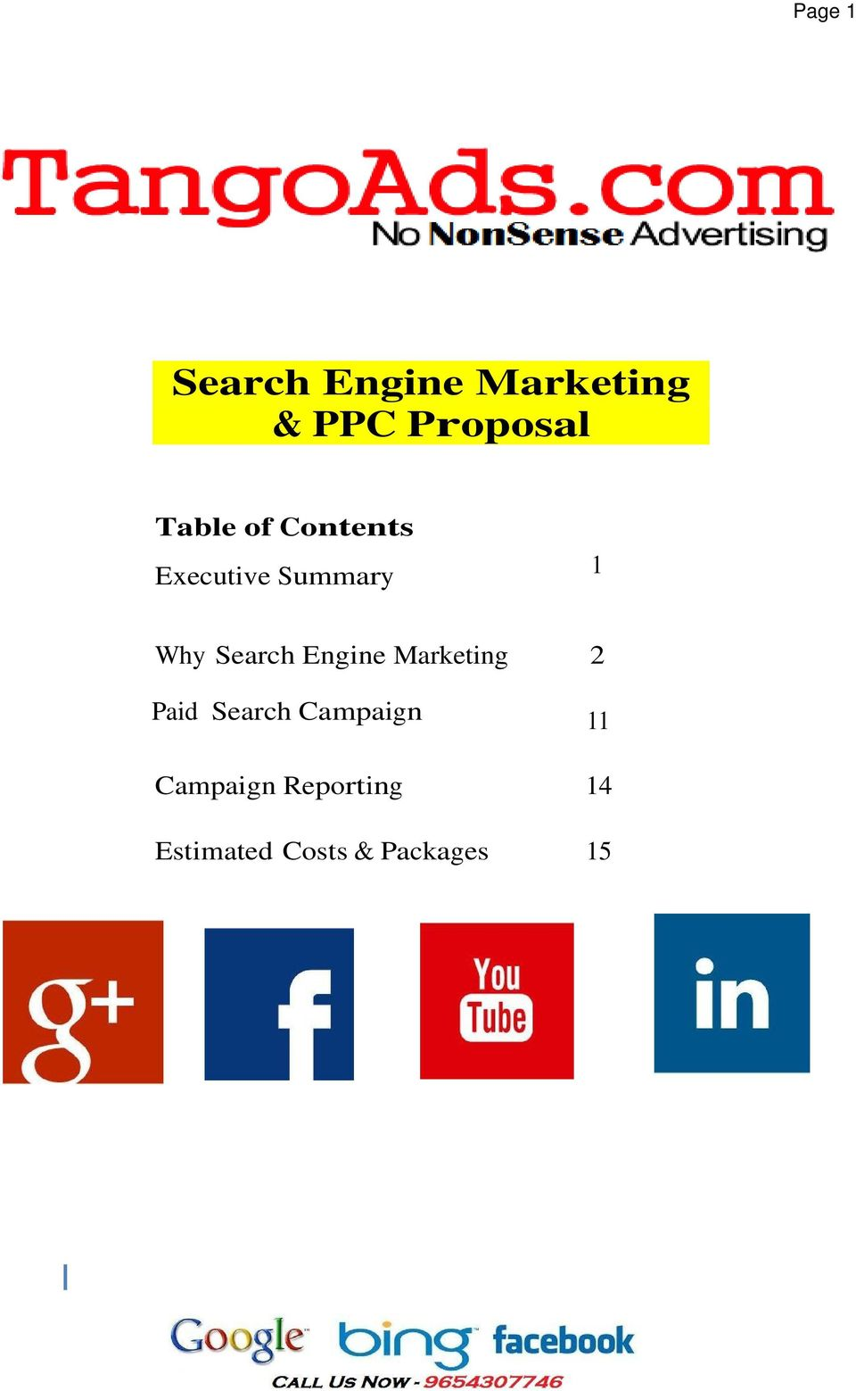 of Contents Executive Summary 1 Why Search Engine