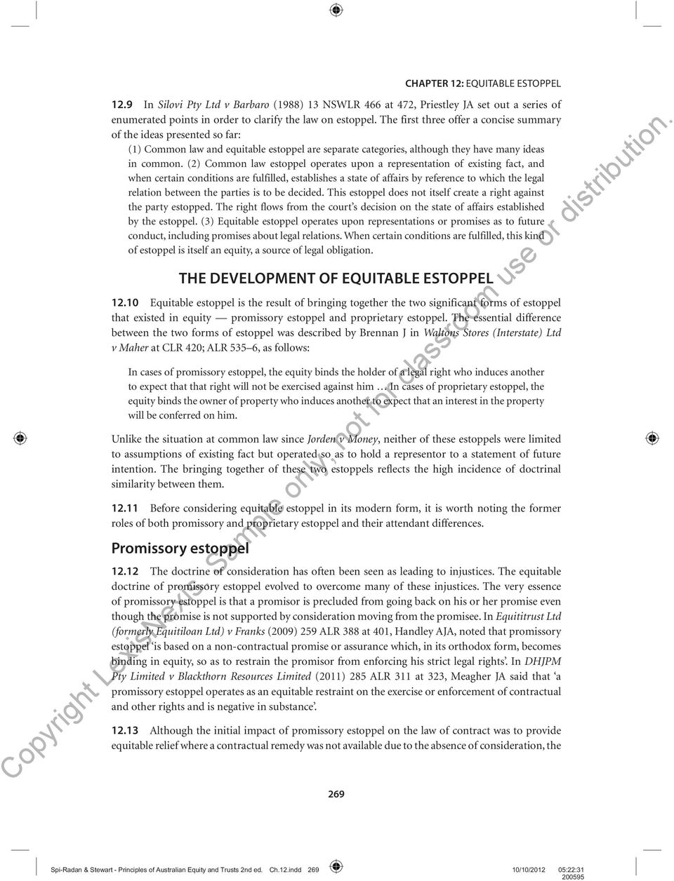 Essay equitable estoppel contracts