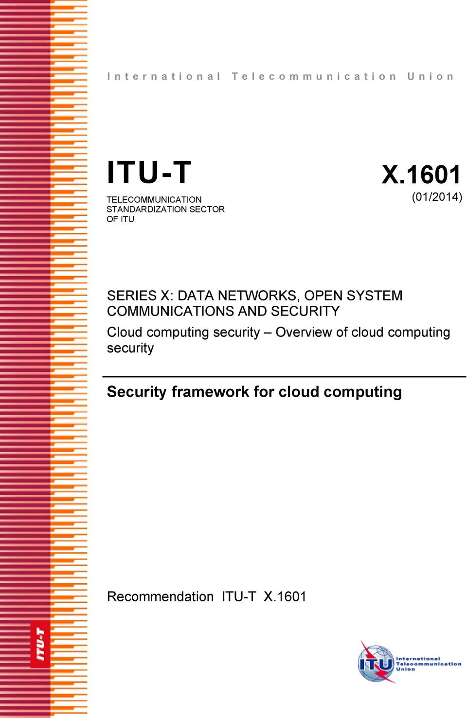 X: DATA NETWORKS, OPEN SSTEM COMMUNICATIONS AND SECURIT Cloud