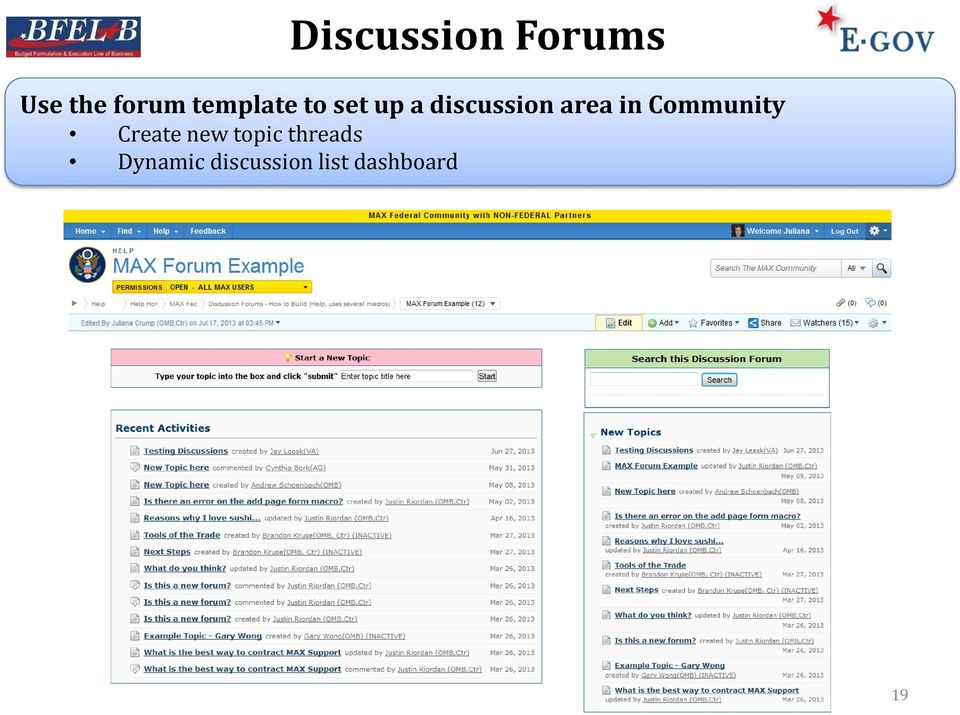 area in Community Create new topic