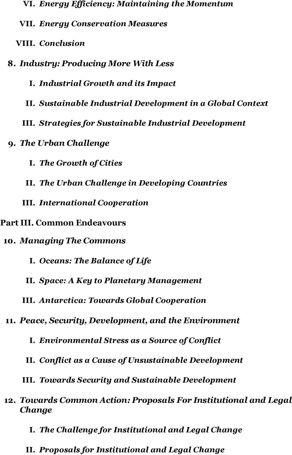 The Growth of Cities The Urban Challenge in Developing Countries International Cooperation Part III.