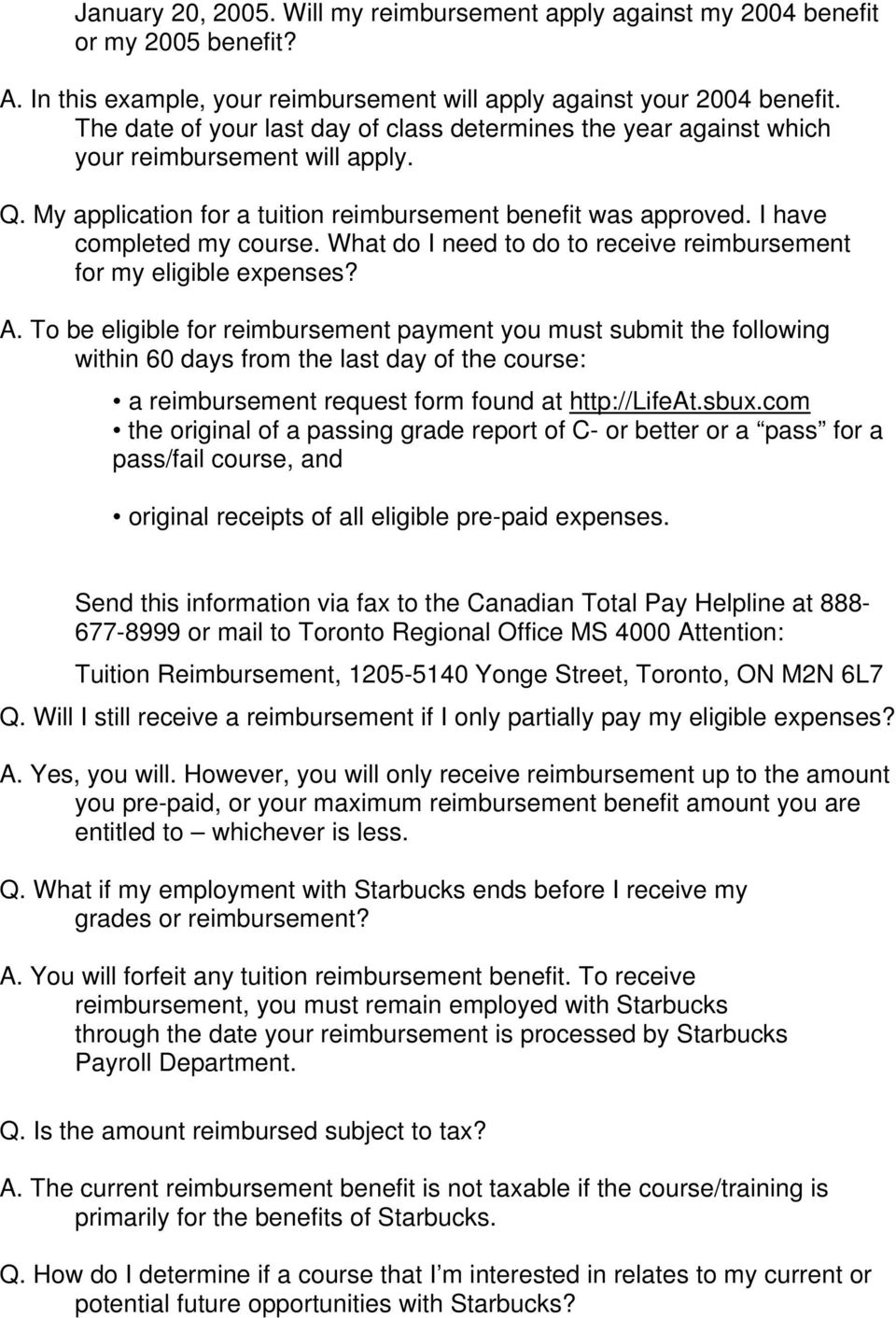 starbucks canada application form pdf