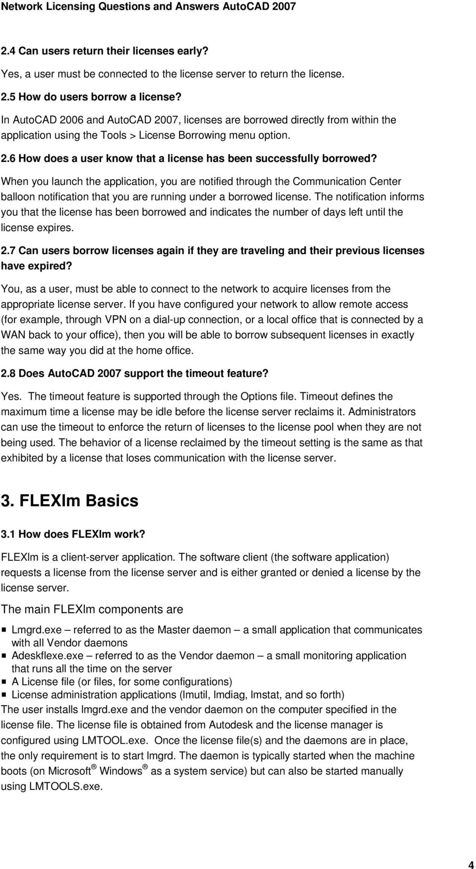 Network Licensing Questions and Answers - PDF