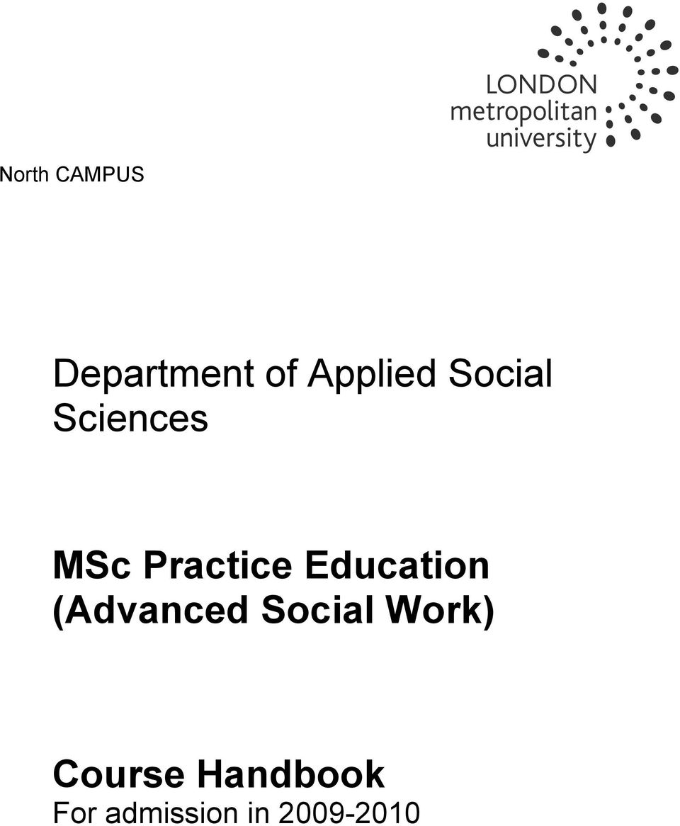 Education (Advanced Social Work)