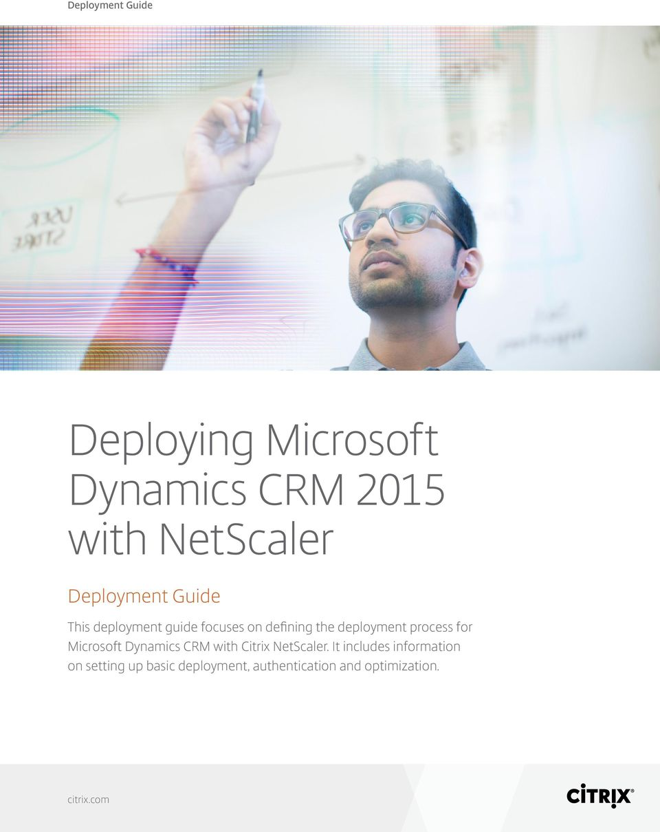 process for Microsoft Dynamics CRM with Citrix NetScaler.