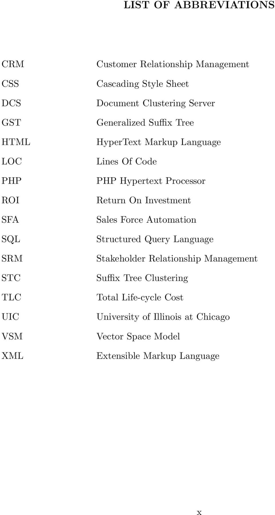 Hypertext Processor Return On Investment Sales Force Automation Structured Query Language Stakeholder Relationship