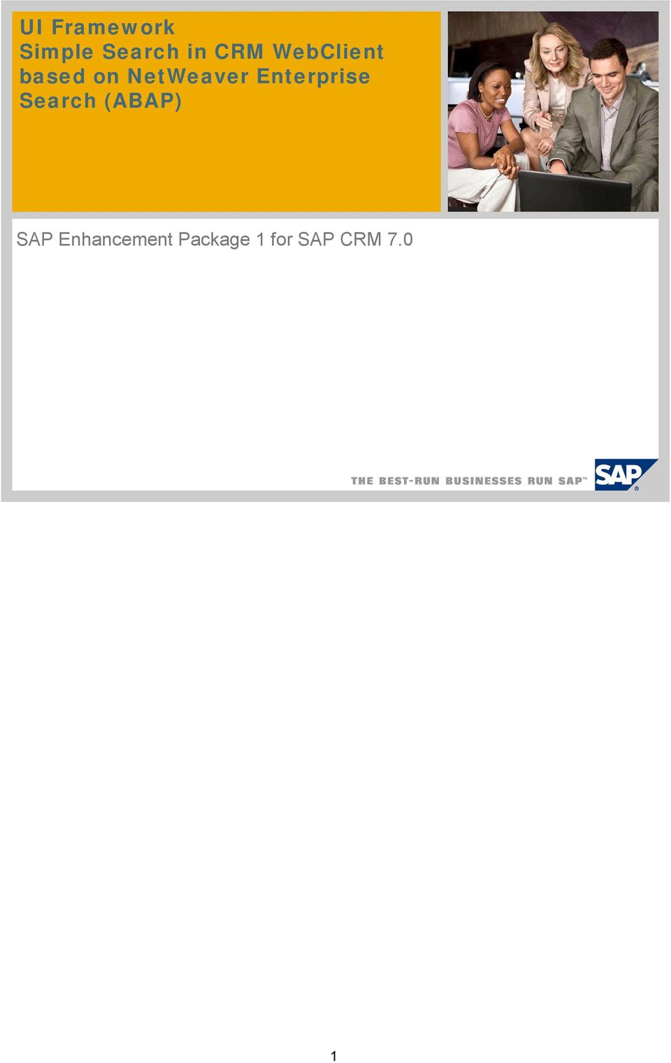 Enterprise Search (ABAP) SAP