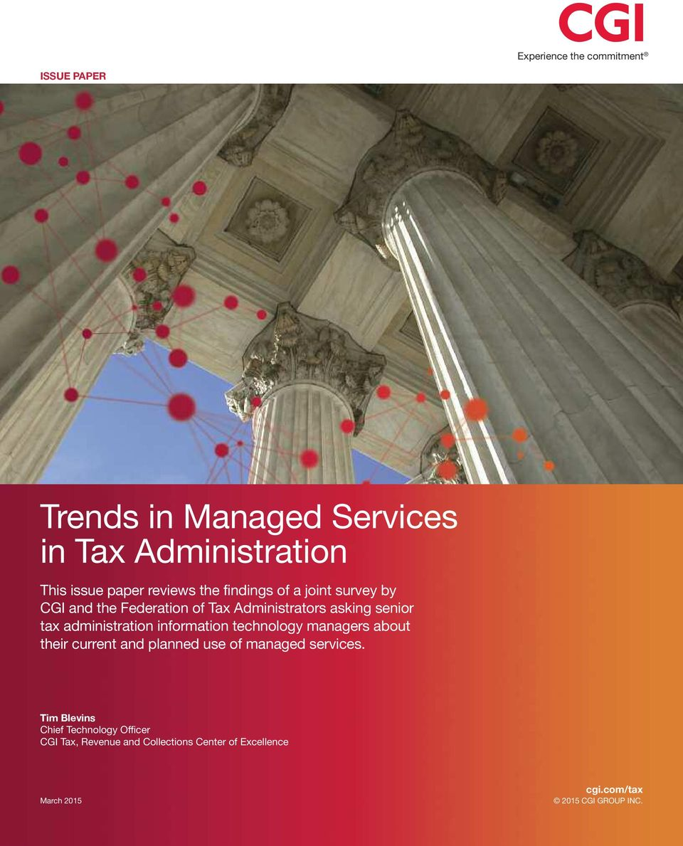 information technology managers about their current and planned use of managed services.
