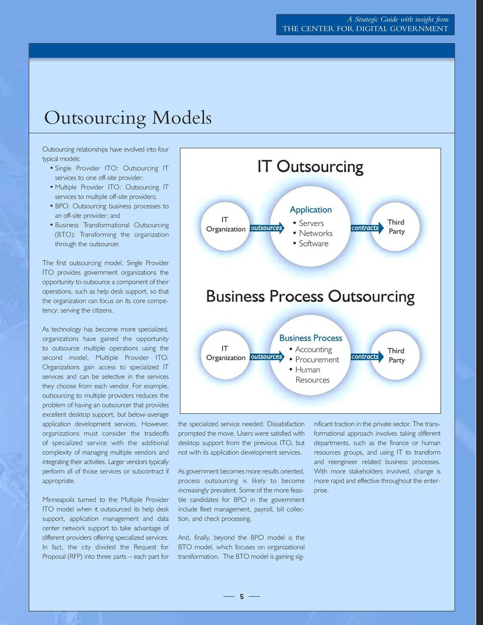 Outsourcing (BTO): Transforming the organization through the outsourcer.