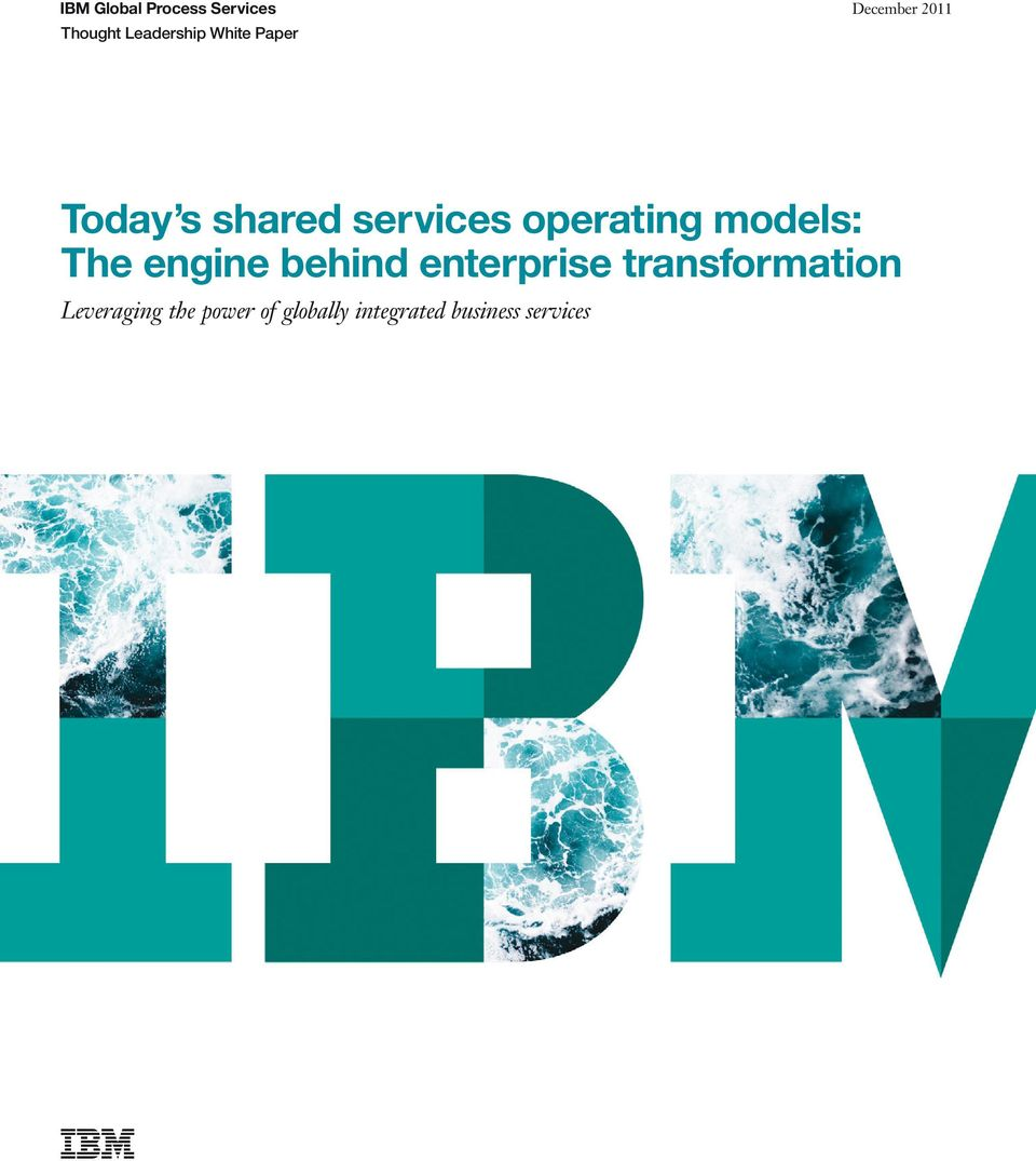 models: The engine behind enterprise transformation