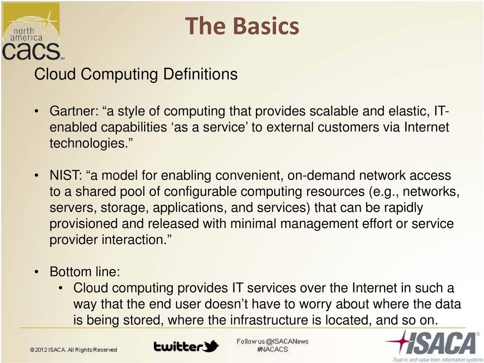 es. NIST: a model for enabling