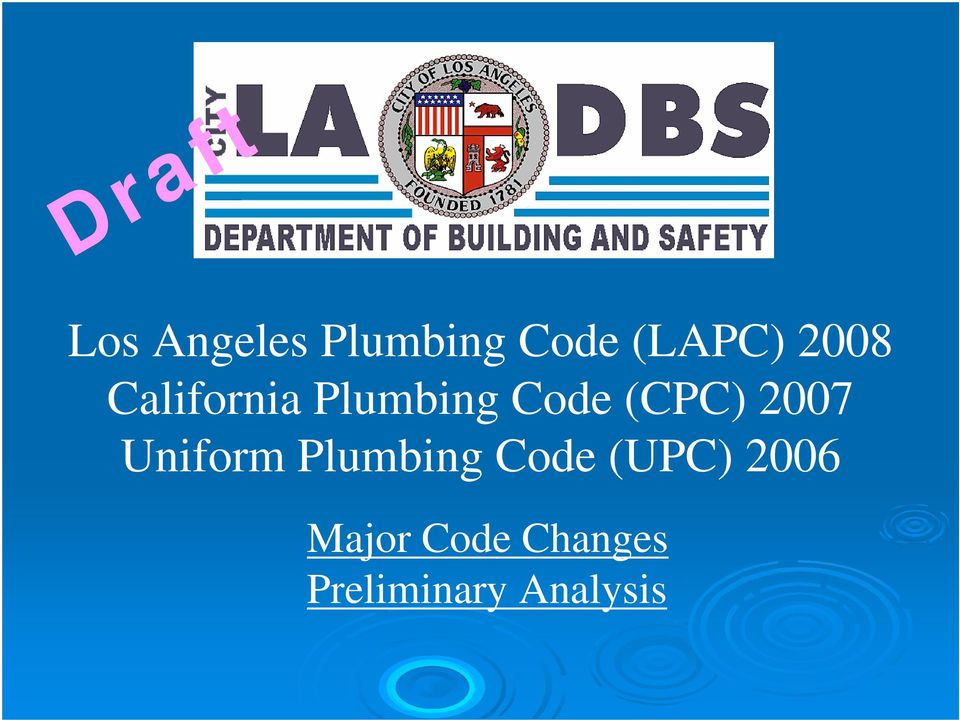 Los Angeles Building Code Chapter