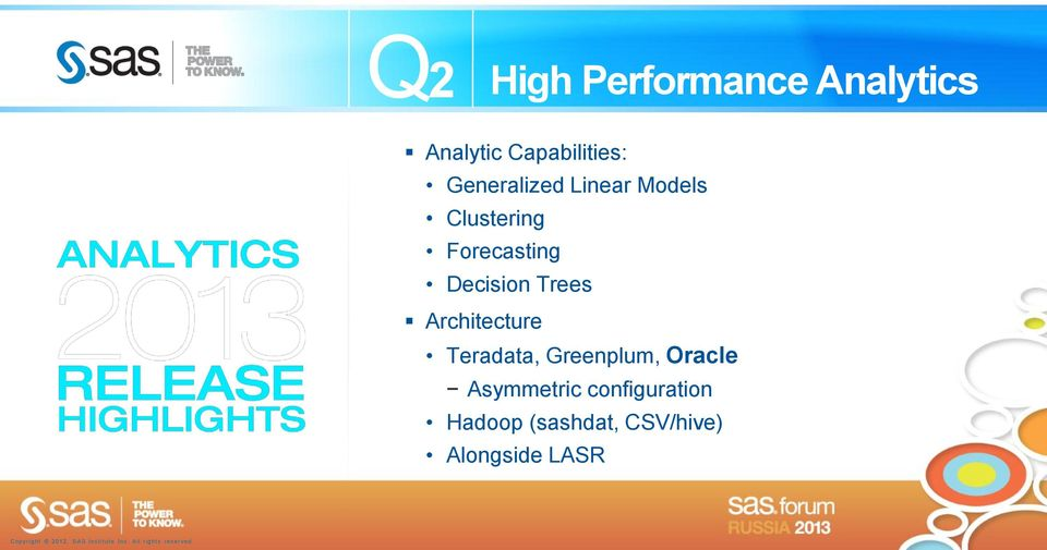 Decision Trees Architecture Teradata, Greenplum, Oracle