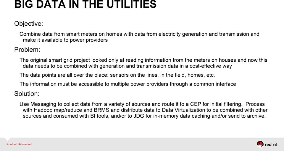 are all over the place: sensors on the lines, in the field, homes, etc.
