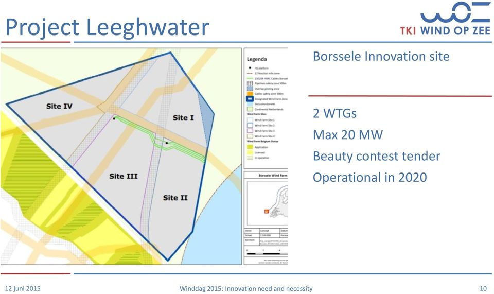 Operational in 2020 12 juni 2015 Winddag 2015: Innovation