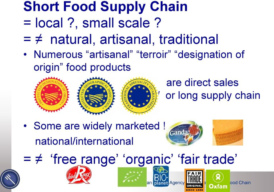 designation of origin food products are direct sales and/ or long