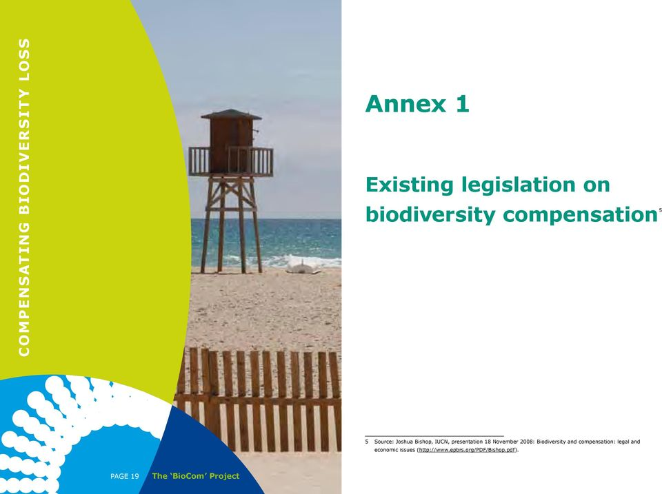 18 November 2008: Biodiversity and compensation: legal