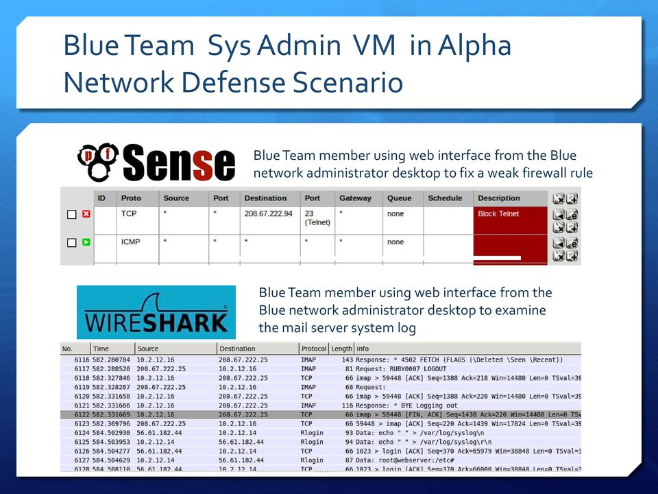 to fix a weak firewall rule Blue Team  to examine the mail server