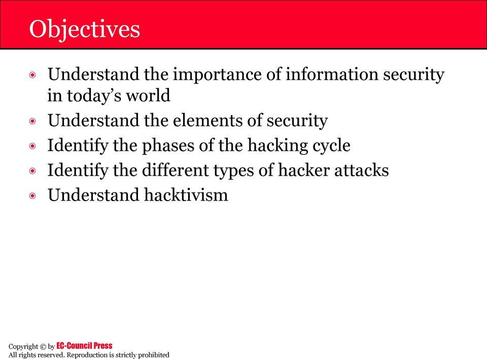 security Identify the phases of the hacking cycle