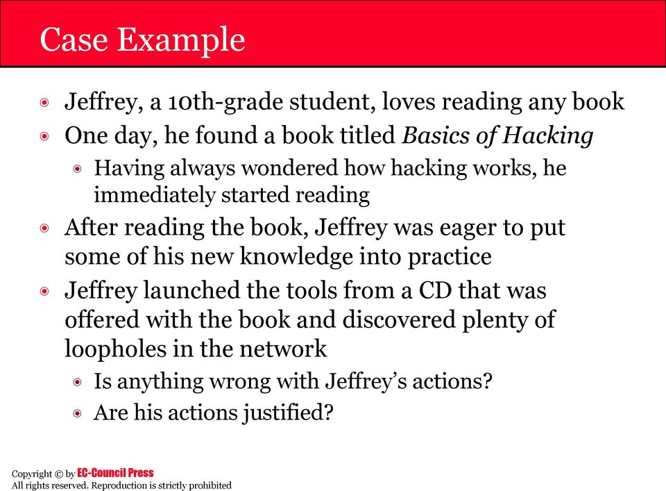 to put some of his new knowledge into practice Jeffrey launched the tools from a CD that was offered with the book