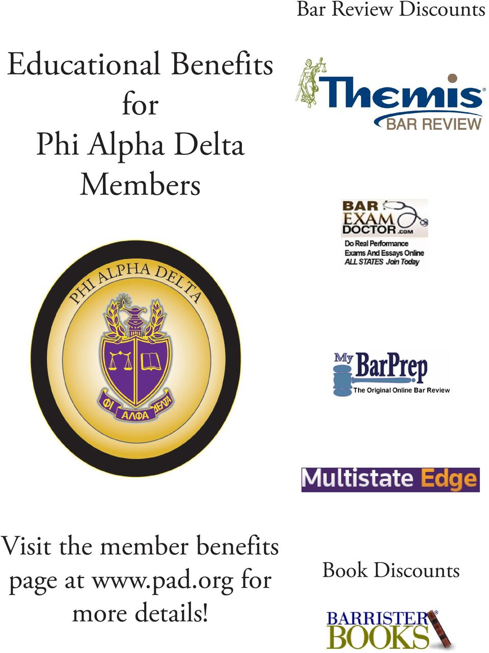 Visit the member benefits page at