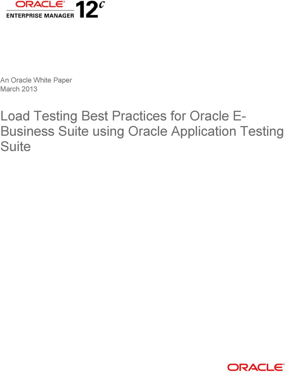 Practices for Oracle E-