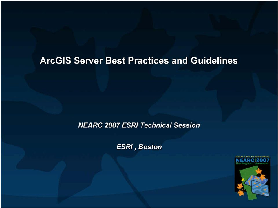 Guidelines NEARC 2007