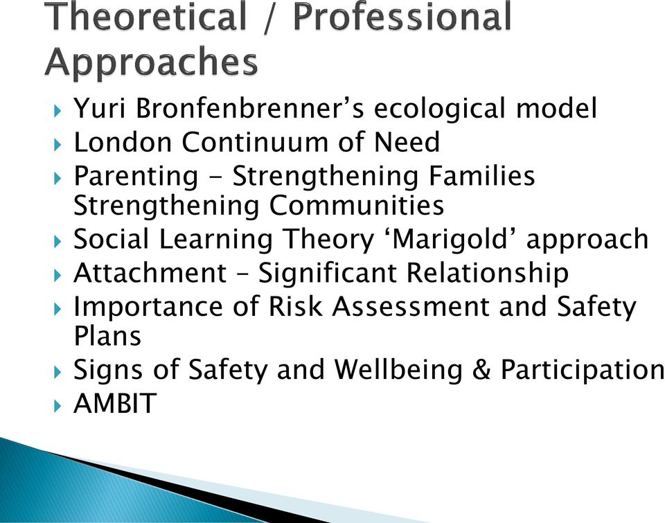 attachment theory and risk assessment In particular, social attachment theory posits that proximity of familiar people,   behaviours to the assessment of seismic risk at the urban scale benefits of this.