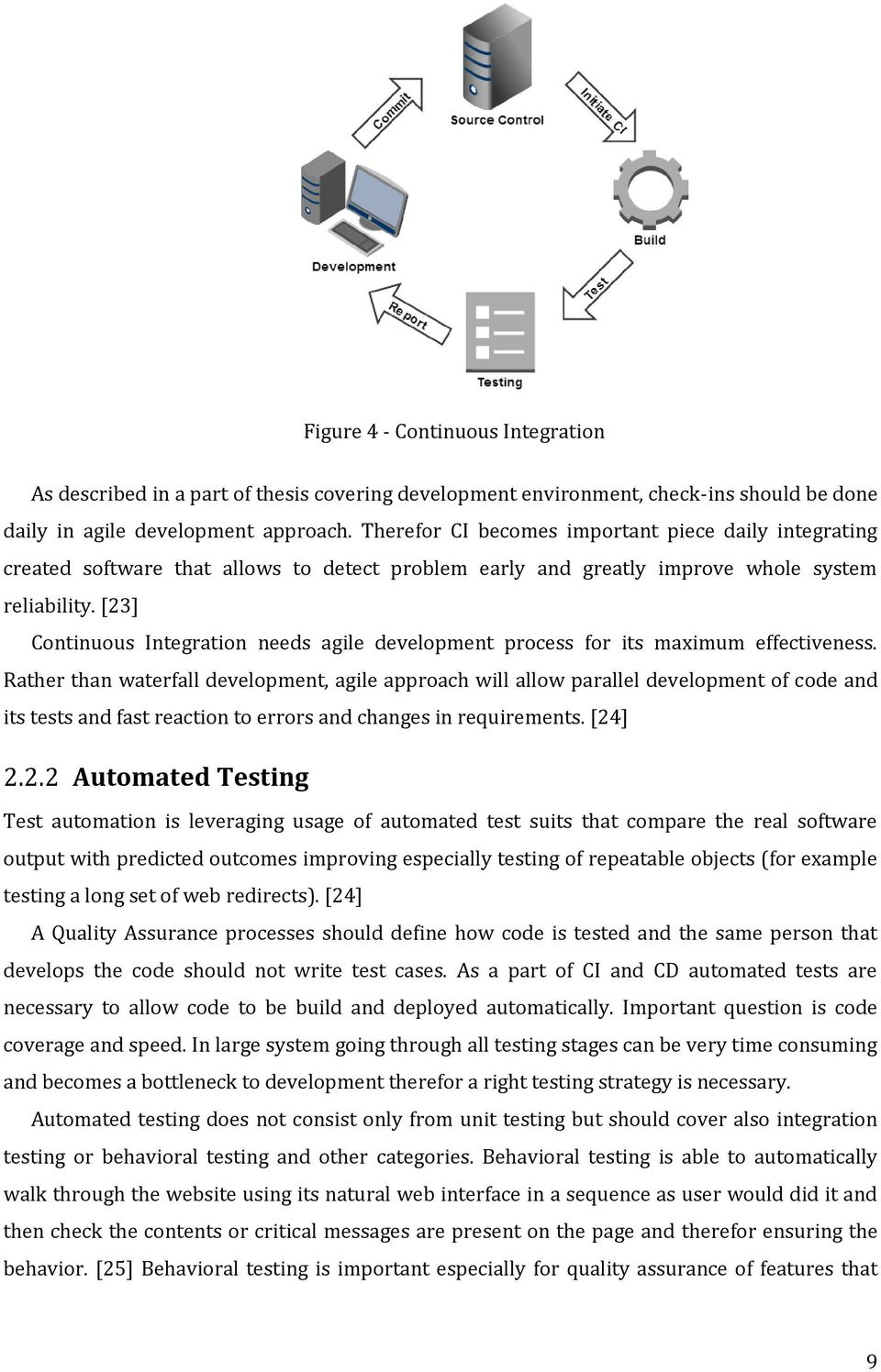 [23] Continuous Integration needs agile development process for its maximum effectiveness.