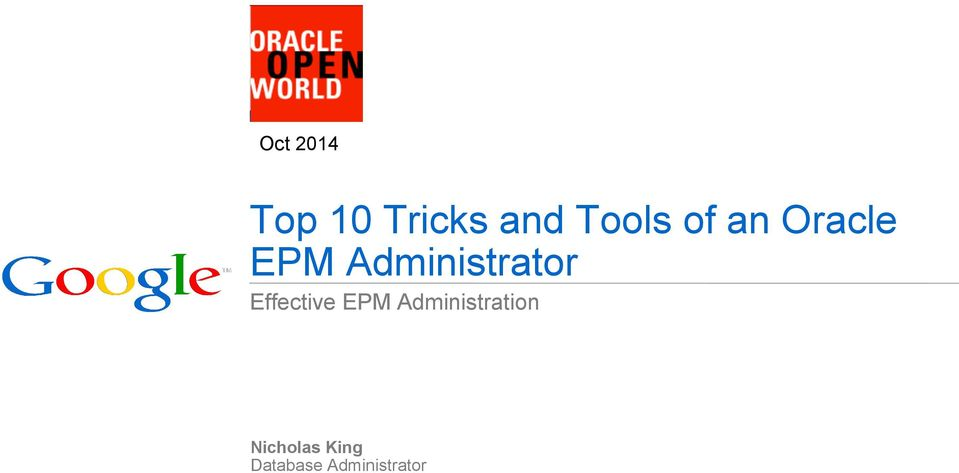 Effective EPM Administration