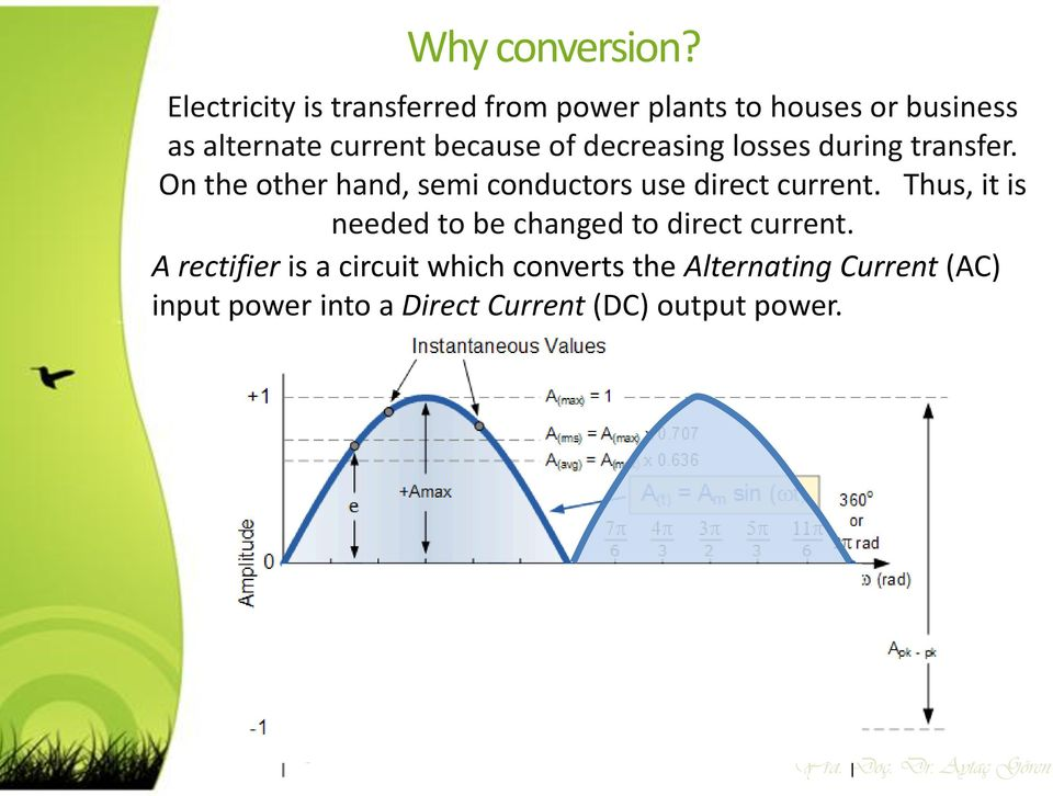 decreasing losses during transfer. On the other hand, semi conductors use direct current.