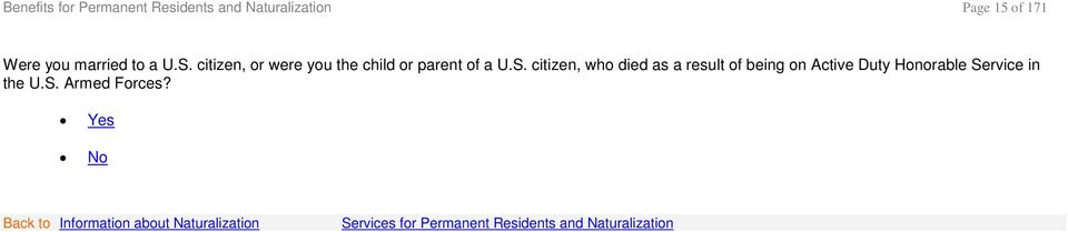 citizen, or were you the child or parent of a U.S.