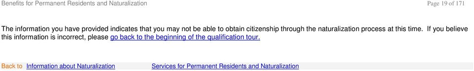 naturalization process at this time.