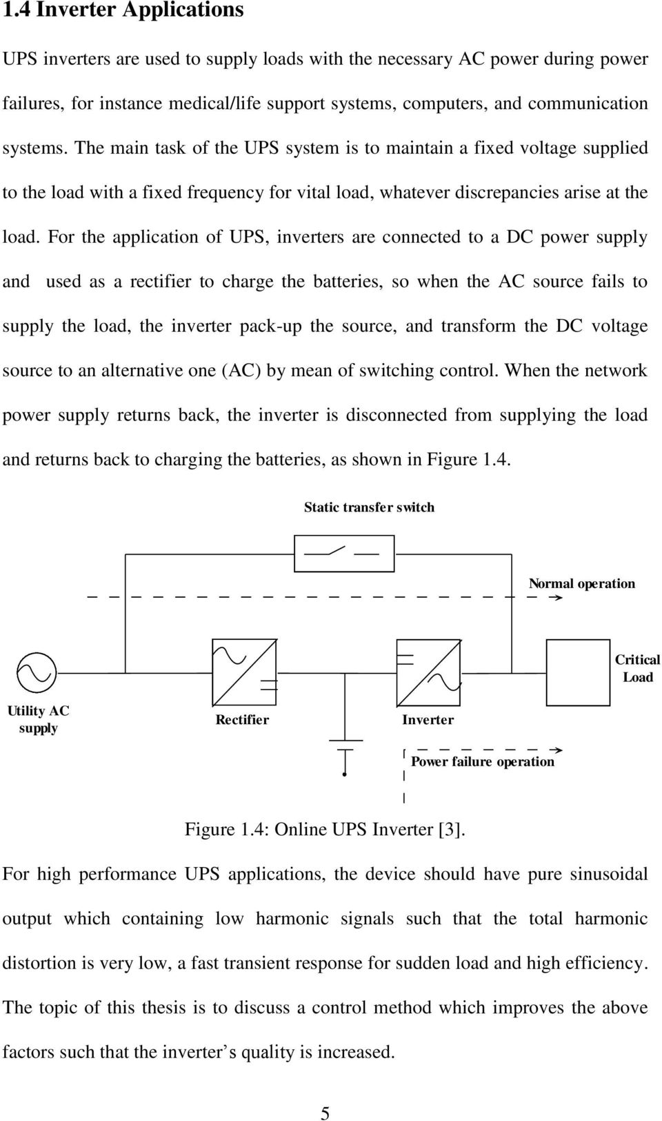 For the application of UPS, inverters are connected to a DC power supply and used as a rectifier to charge the batteries, so when the AC source fails to supply the load, the inverter pack-up the