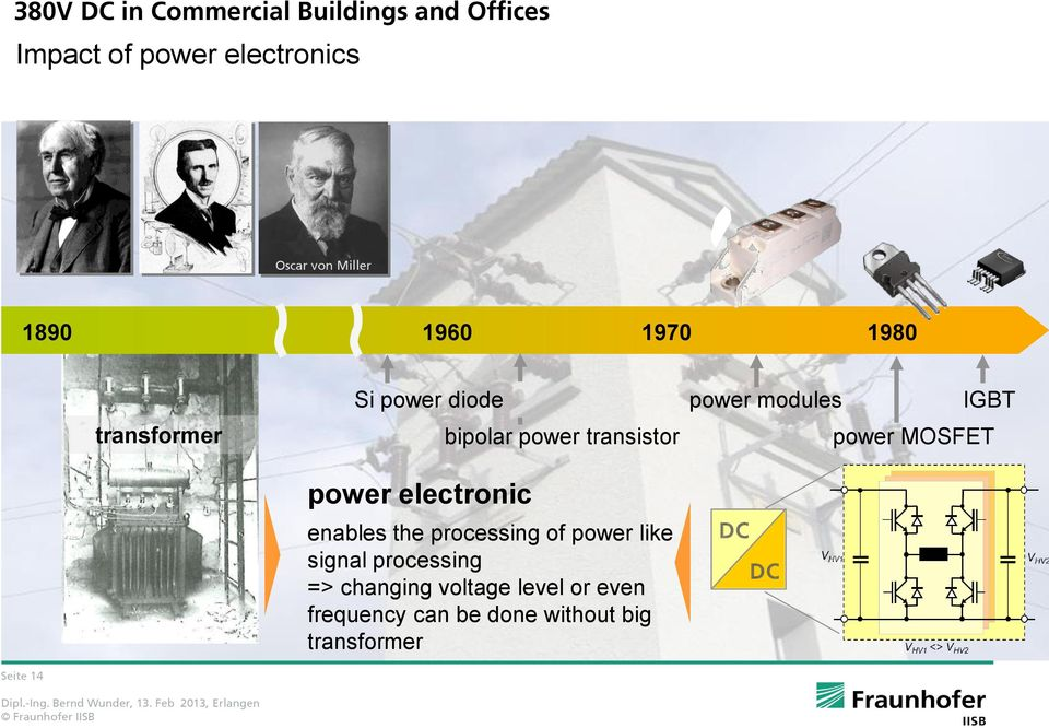 transistor enables the processing of power like signal processing => changing voltage