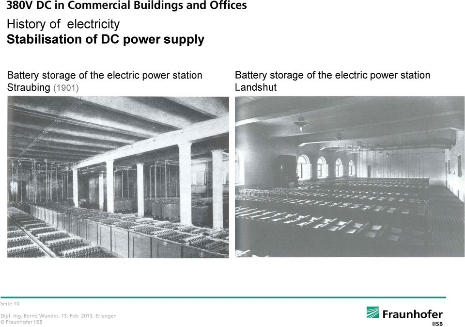 storage of the electric power station Straubing (1901)
