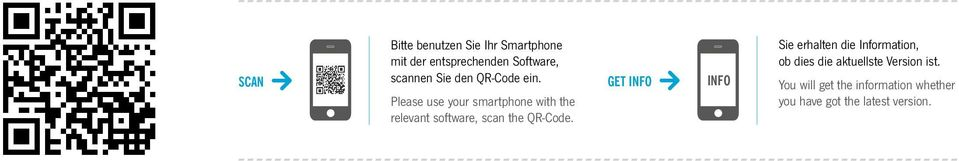 Please use your smartphone with the relevant software, scan the QR-Code.