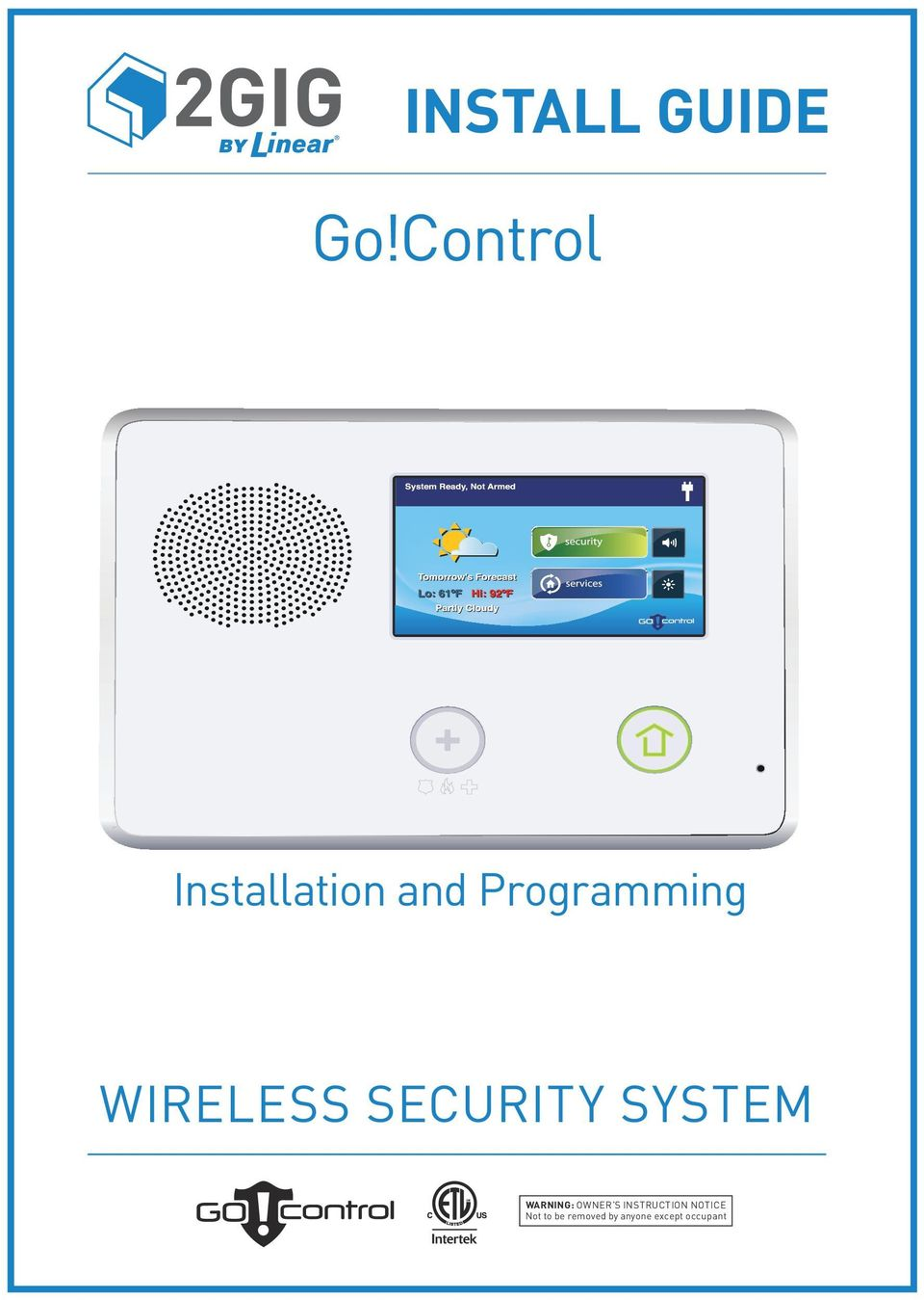go control install guide wireless security system