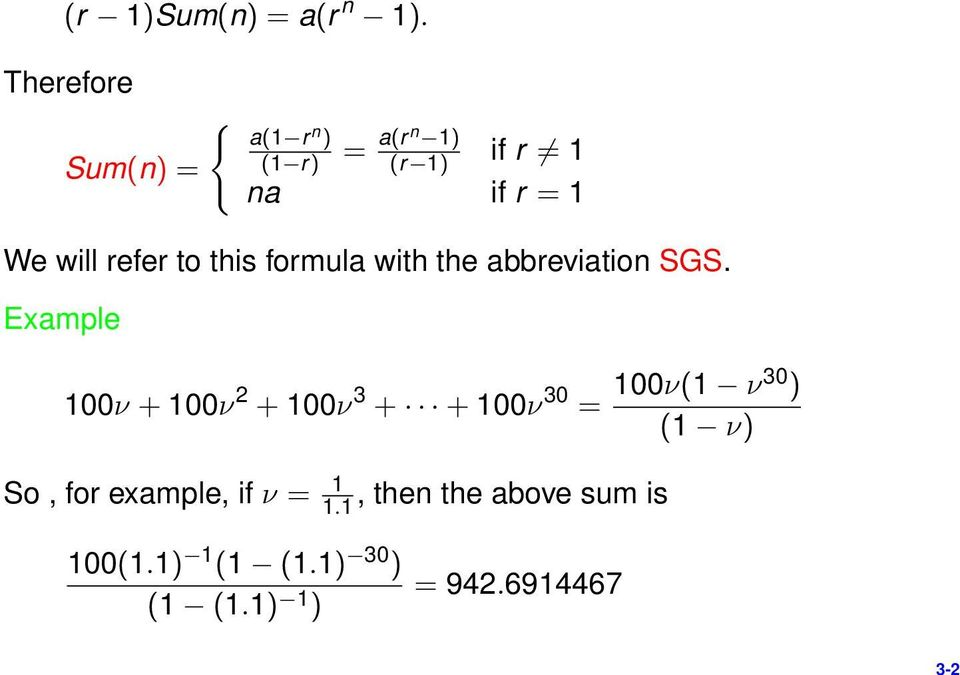 refer to this formula with the abbreviation SGS.