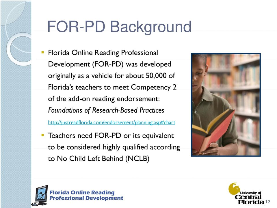 Foundations of Research-Based Practices http://justreadflorida.com/endorsement/planning.