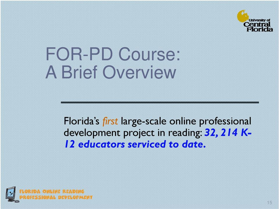 professional development project in