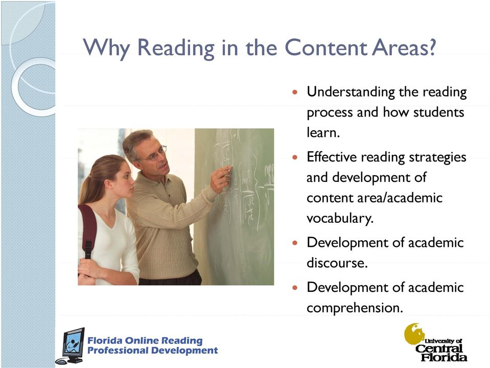 Effective reading strategies and development of content