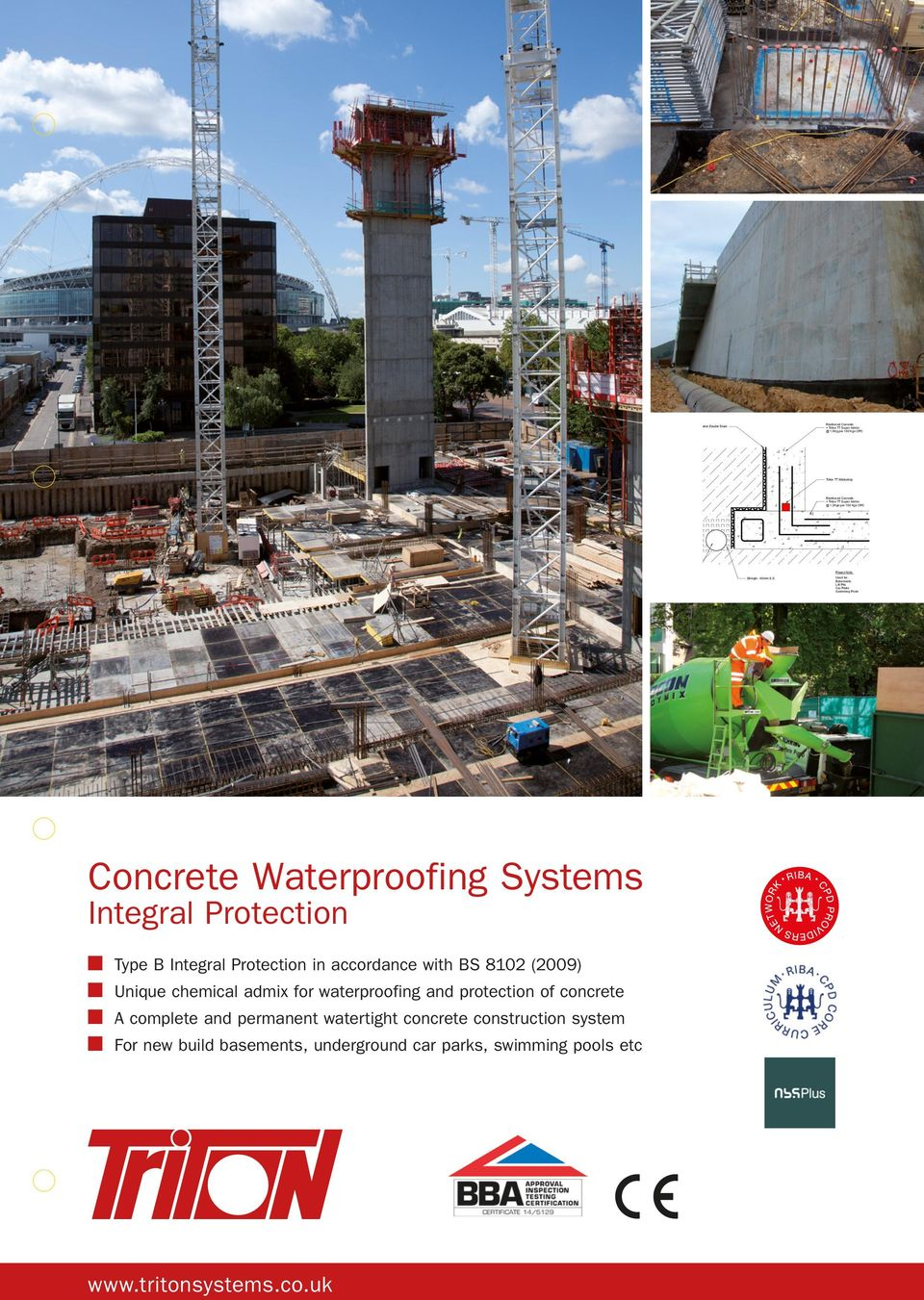 protection of concrete n A complete and permanent watertight concrete