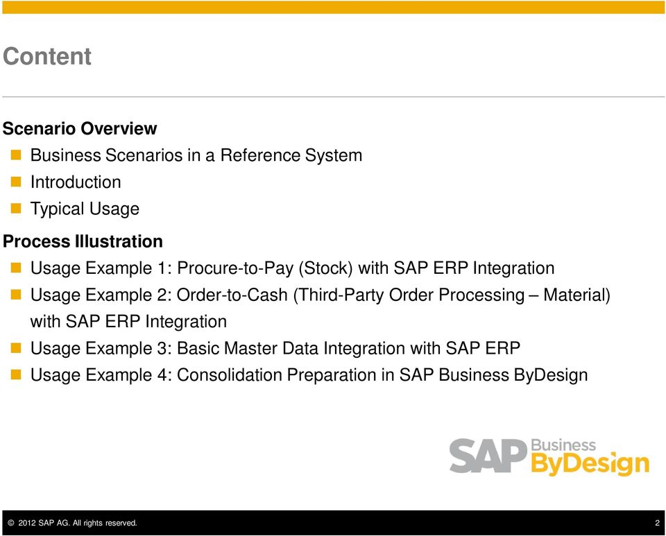 (Third-Party Order Processing Material) with SAP ERP Integration Usage Example 3: Basic Master Data