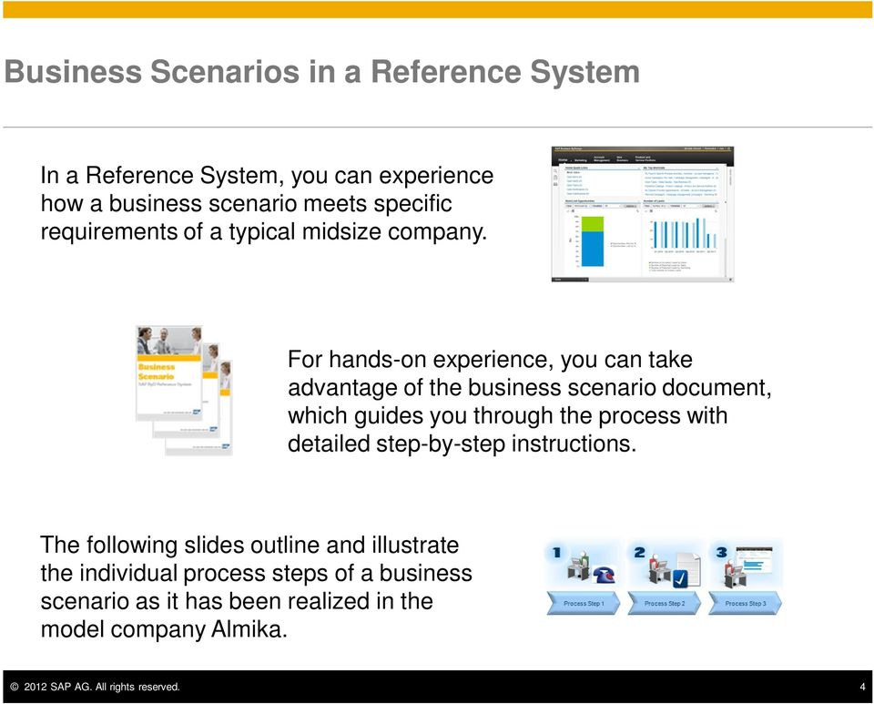 For hands-on experience, you can take advantage of the business scenario document, which guides you through the process with
