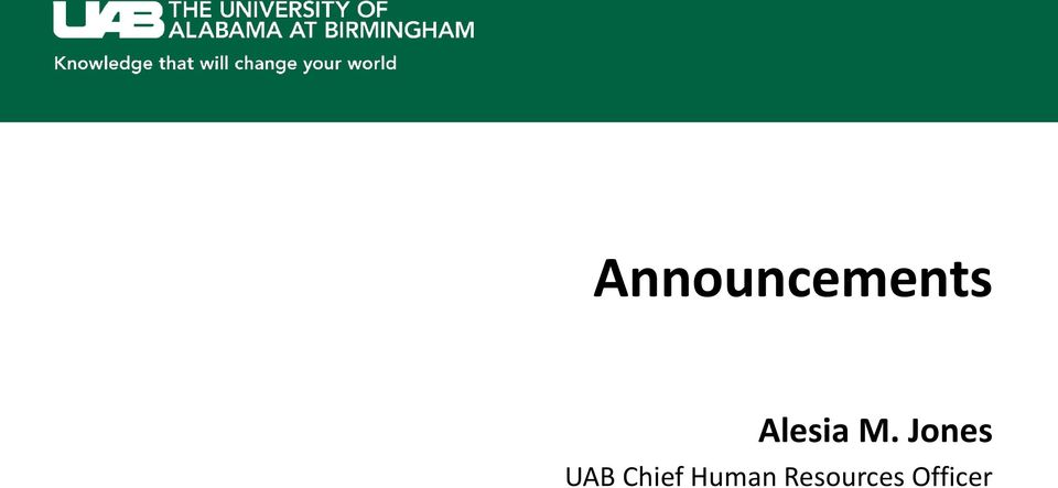 Jones UAB Chief