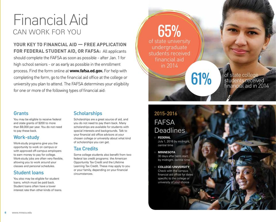 For help with completing the form, go to the financial aid office at the college or university you plan to attend.